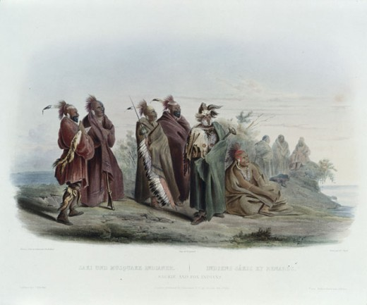 Stock Photo: 1060-791 Saukie and Fox Indians