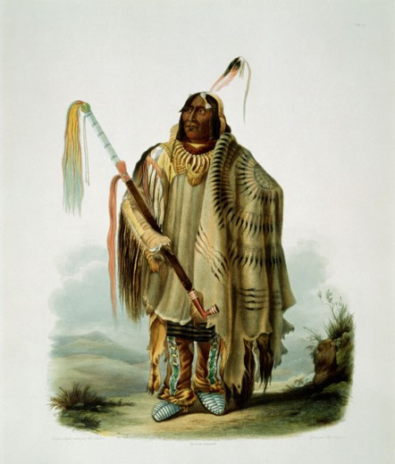 A Minatarre or Big-Bellied Indian, Pehriska-Ruhpa