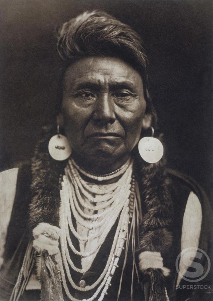 Stock Photo: 1060-886 Chief Joseph Leader of Nez Perce Tribe (1840-1904)