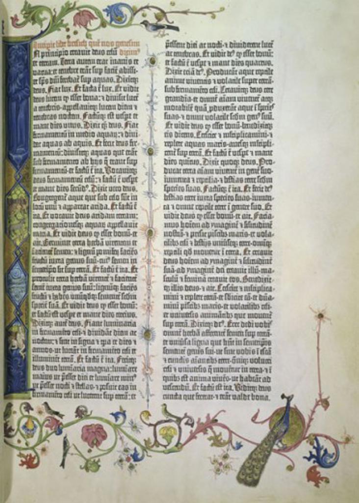 Stock Photo: 1060-895 Gutenberg Bible  c. 1455 Manuscripts The Huntington-San Marino, California