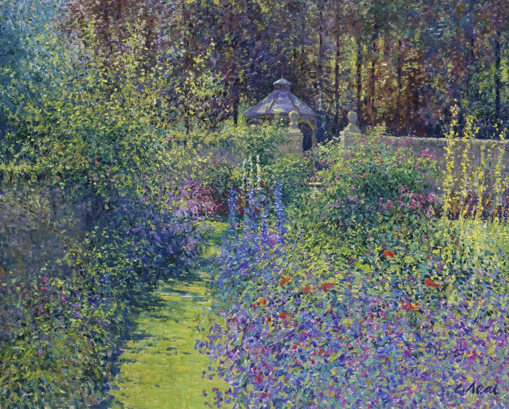 Stock Photo: 1061-18096 View to Gazebo, Summer, Cerney House