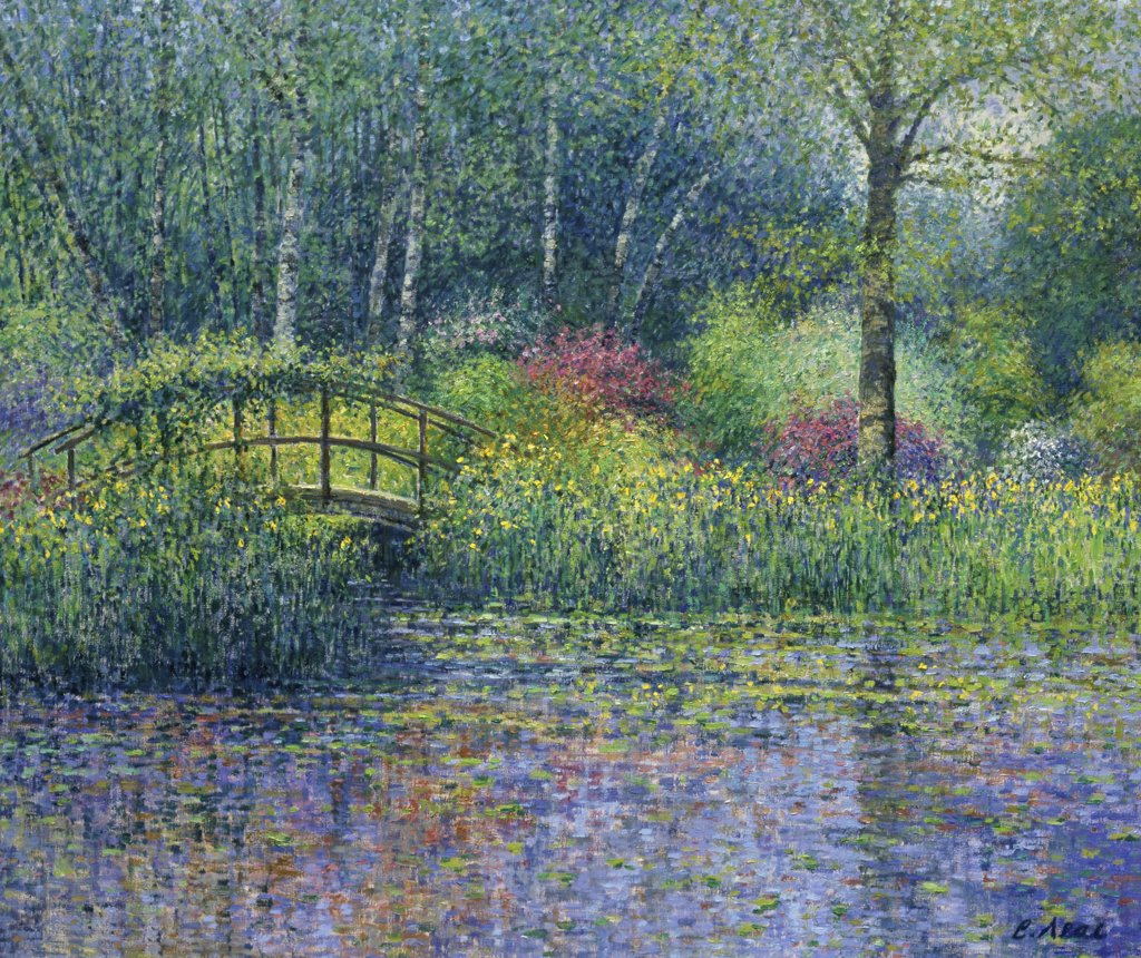 Stock Photo: 1061-18135 Japanese Bridge & Pond