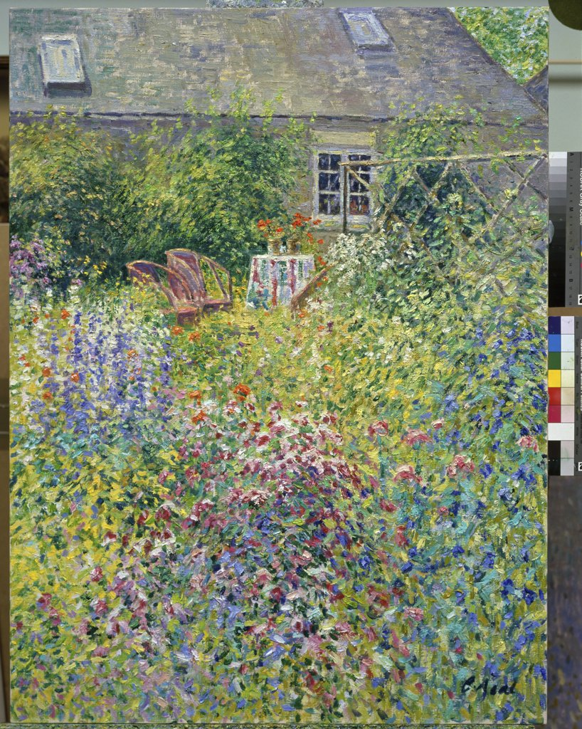Stock Photo: 1061-18158 Border Compostion With Garden Chairs