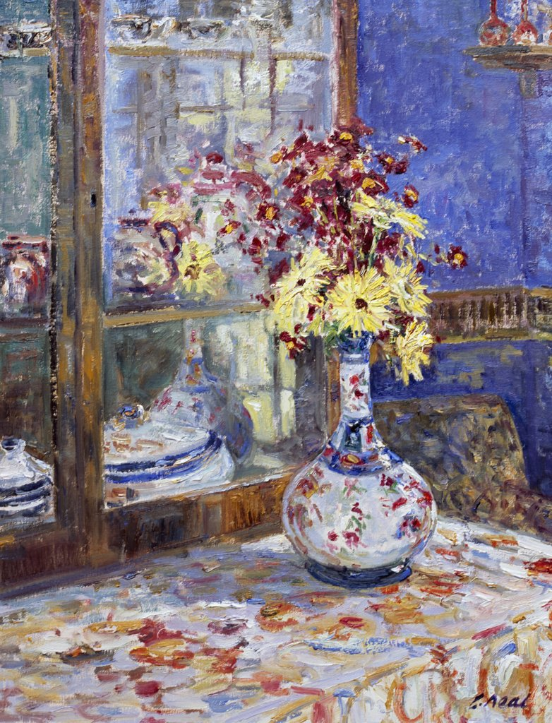 Stock Photo: 1061-18378 Still Life With Reflections. The Dining Room At The Artist's Home