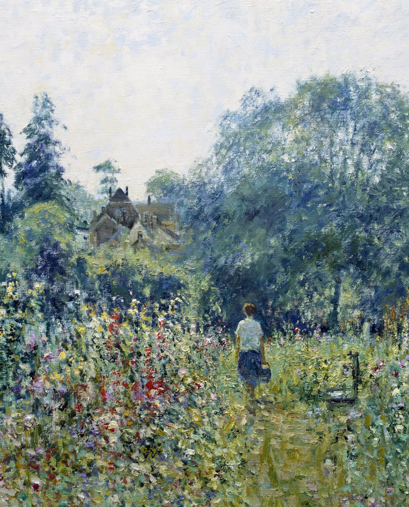 Stock Photo: 1061-18394 Ryecroft Allotments, View To Charlton Kings, Cheltenham, Gloucestershire..Morning, August (Detail)