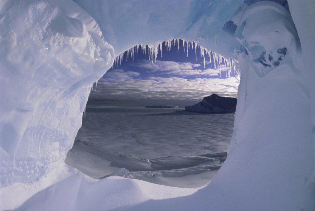 Stock Photo: 1064-136 View through an iceberg, Atka Island, Alaska, USA