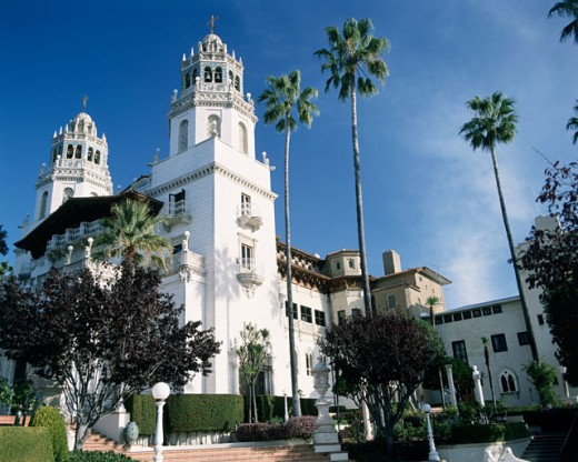 Stock Photo: 1070-1050 Low angle view of a castle, Hearst Castle, California, USA