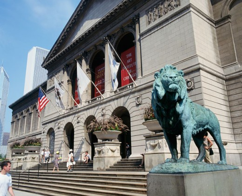 Stock Photo: 1070-629 Art Institute of Chicago Chicago Illinois USA