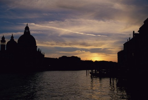 Stock Photo: 1070R-1003 Sunset in Venice, Italy