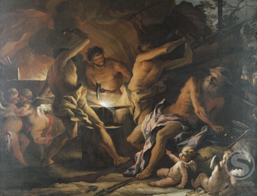 Stock Photo: 1075-188 The Forge of Vulcan