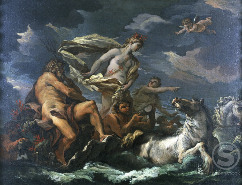 Stock Photo: 1075-190 The Triumph of Neptune and Amphitrite 