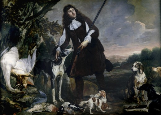 Stock Photo: 1075-192 Huntsman with His Dog and Game ca. 1650 Pieter Thijs (Flemish, 1624-1677) and Pieter Boel (Flemish, 1622-1674) Oil on canvas Cummer Museum of Art & Gardens, Jacksonville, FL