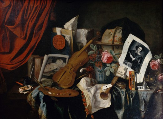 Stock Photo: 1075-196 Vanitas Still Life