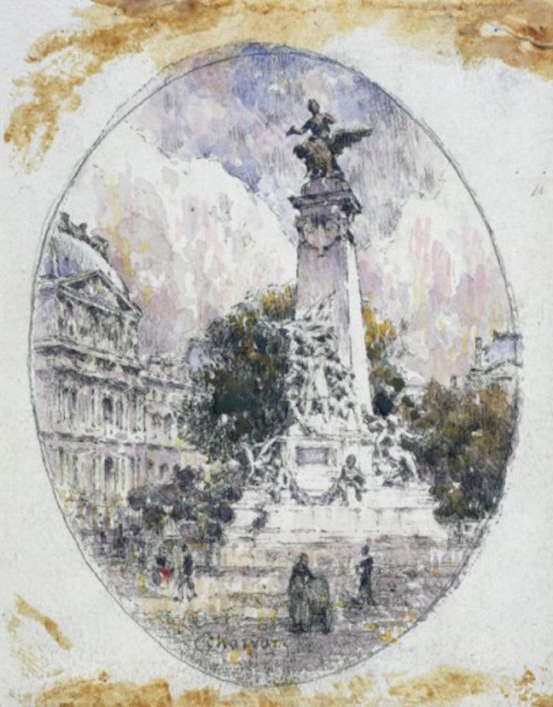 Stock Photo: 1075-352 Parisian Scene Eugene Charvot (1847-1924 French) Cummer Museum of Art & Gardens, Jacksonville, Fl