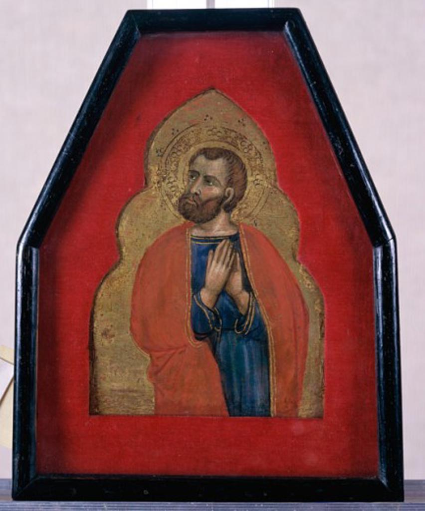 Stock Photo: 1075-421 An Apostle Battista da Vicenza (15th C./Italian) Tempera on Wood Panel Cummer Museum of Art & Gardens, Jacksonville, Florida, USA