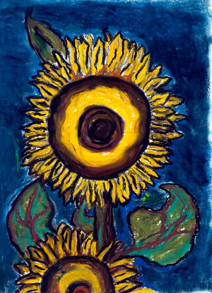Stock Photo: 1083-20029 Sunflower II,  by Ashton Hinrichs,  20th Century