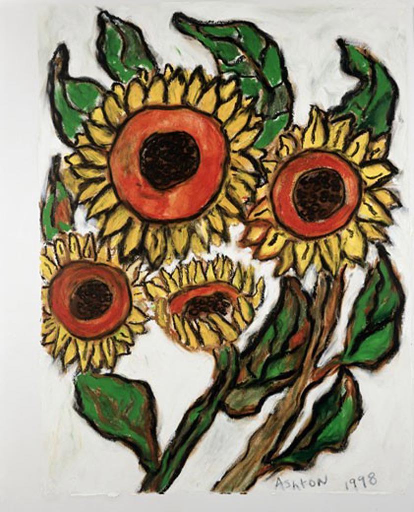 Stock Photo: 1083-20039 Sunflowers Les Tournesols 1998 Ashton Hinrichs (20th C. American) Pastel On Paper