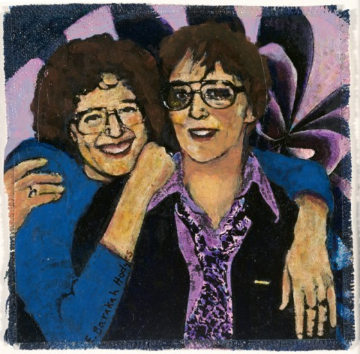Stock Photo: 1085-21004 Jan and Me 1996 Elizabeth Barakah Hodges (21st C. American) Mixed media and collage