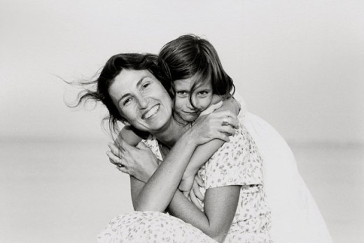 Stock Photo: 1093-127 Portrait of a daughter hugging her mother