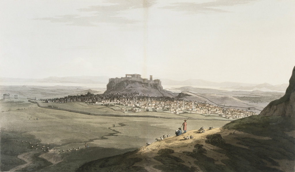 Stock Photo: 1095-1135 Athens From Journey Through Albania And Turkey