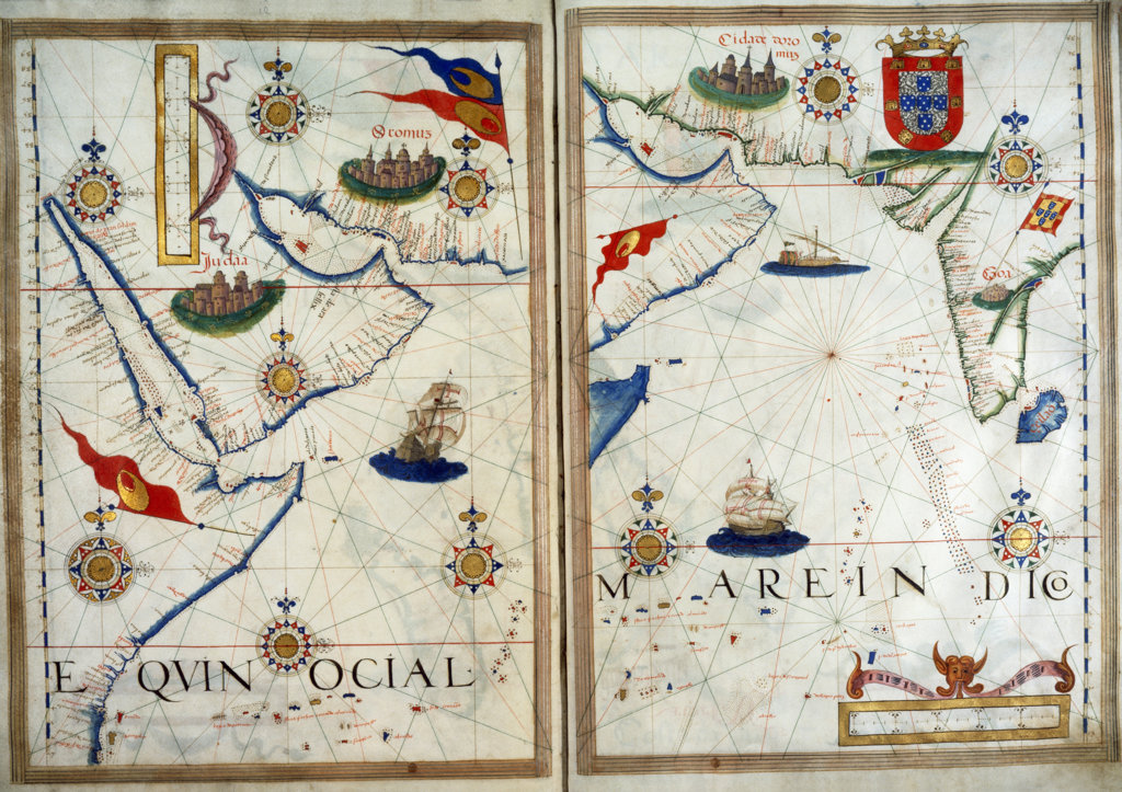 Stock Photo: 1095-124 Portuguese Portolan Atlas 