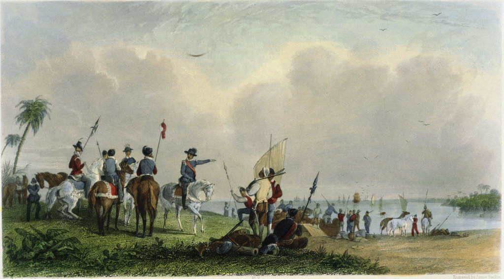 Stock Photo: 1095-1281 Landing of De Soto at Tampa Bay