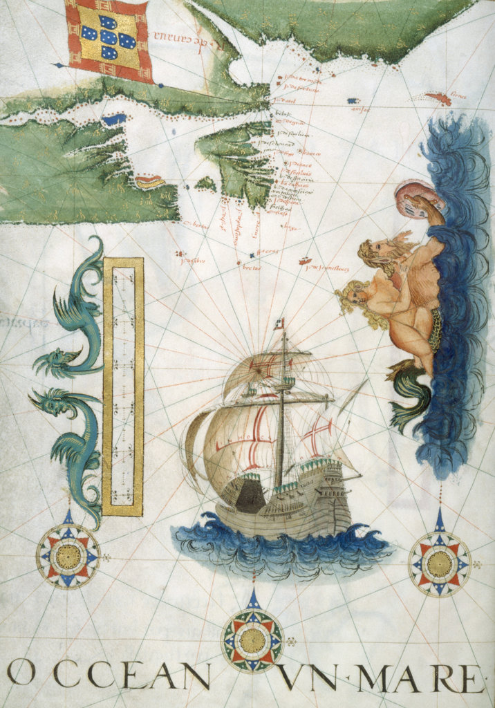 Stock Photo: 1095-129 Portolan Atlas Illumination 