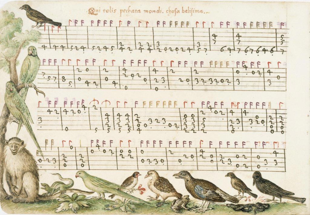 Compositione di Messer Vincenzo  Vincenzo Capirola  Newberry Library, Chicago   : Stock Photo