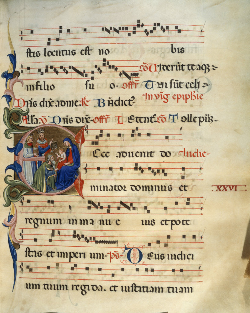 Stock Photo: 1095-156 Gradual - Adoration Of The Magi 
