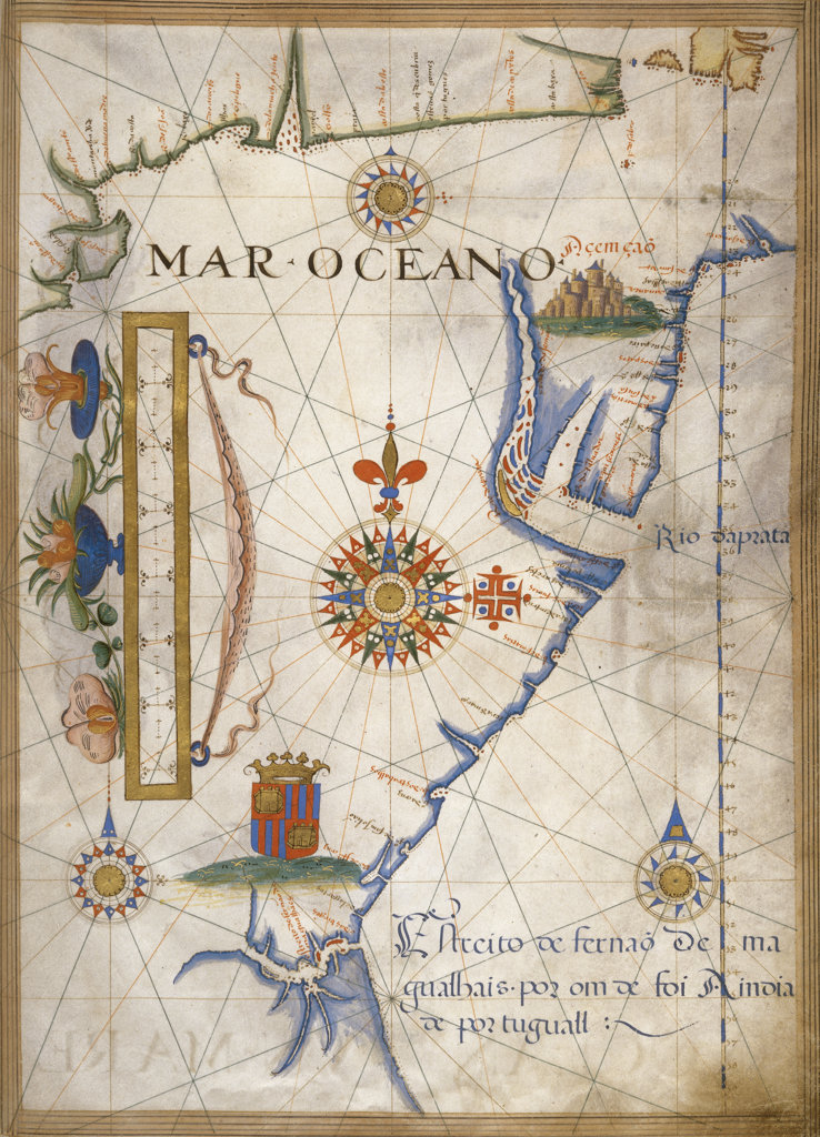 Stock Photo: 1095-165 Mar Oceano - Portolan Atlas Illumination