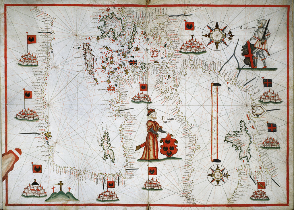 Stock Photo: 1095-247 The Eastern Mediterranean, The Aegean, And The Black Seas