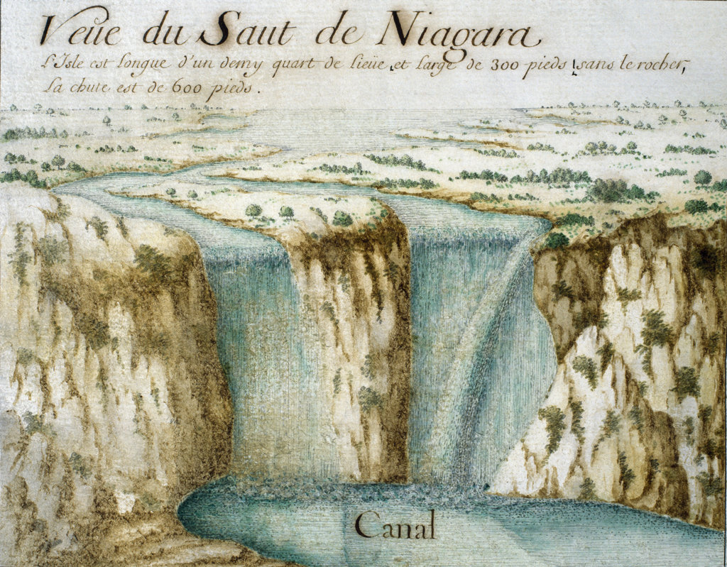 "Niagara Falls - from ""Cartes Marines - a la Substitution du Valdec"" 