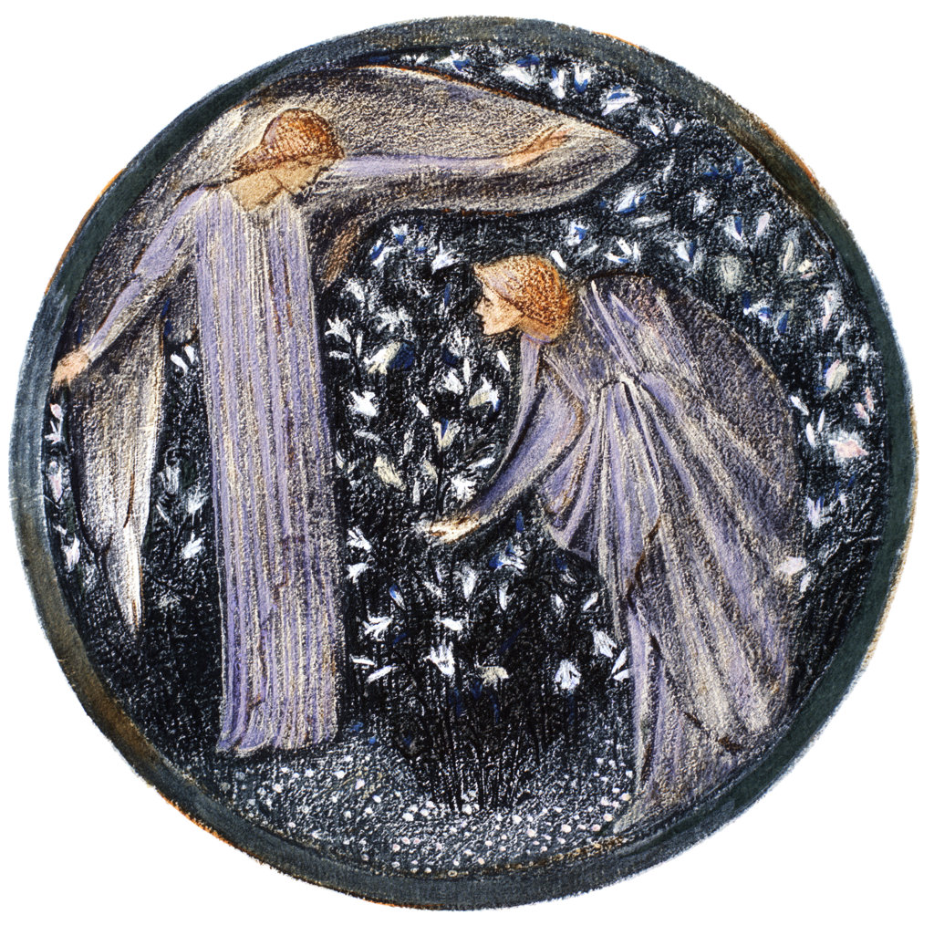 Stock Photo: 1095-281 The Annunciation in a Garden of Lilies, White Garden