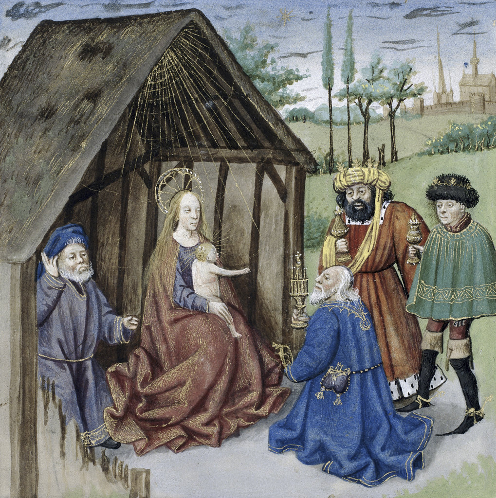 Stock Photo: 1095-294 Nativity with Three Kings
