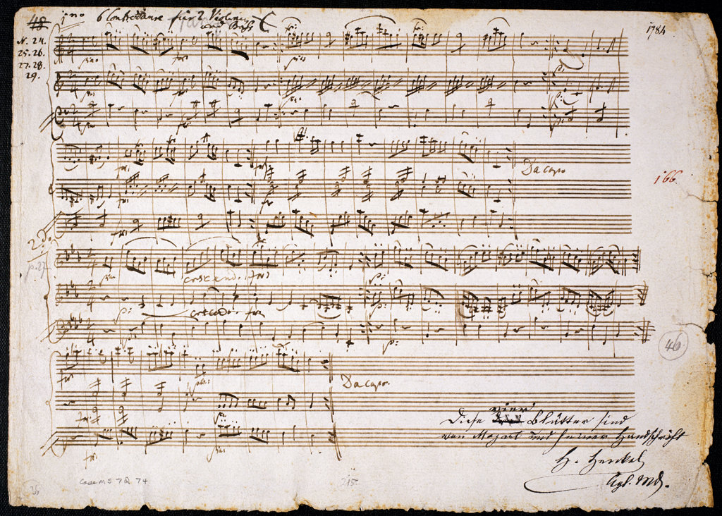 "Stock Photo: 1095-307 Six Contre Danses, K.V. 462, for two Violins & Bass from ""Six Contre Danses""