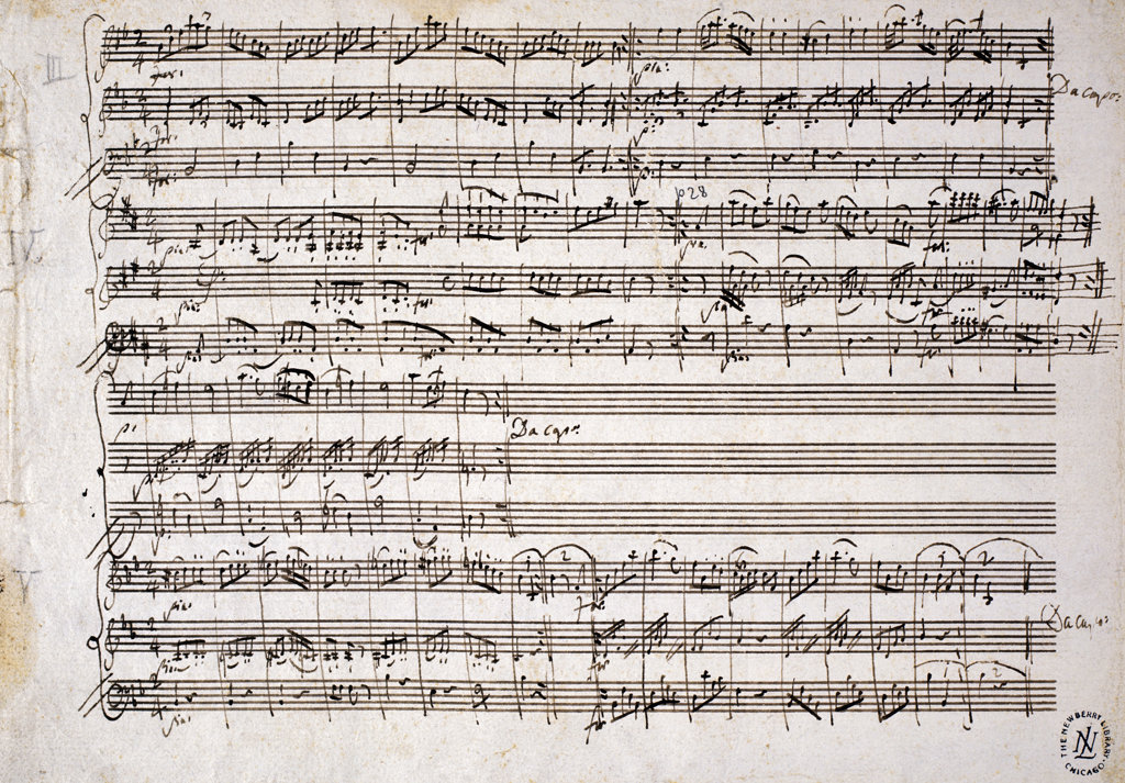 Stock Photo: 1095-311 Six Contre Danses, K.V. 462, for two Violins and Bass 