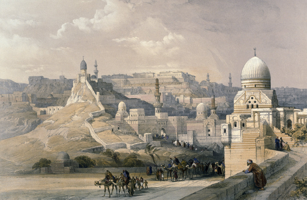 Stock Photo: 1095-374 Citadel of Cairo,  Residence of the Pasha,  from Egypt and Nubia,  David Roberts,  1846-49,  (1796-1864),  USA,  Illinois,  Chicago,  Newberry Library