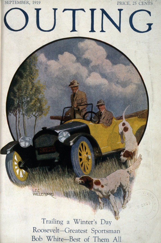Stock Photo: 1095-408 Outing Magazine-Cover image,  by Lee Willenborg,  USA,  Illinois,  Chicago,  Newberry Library,  1919