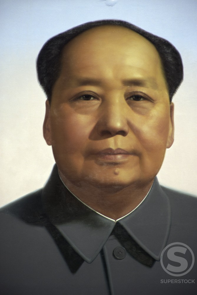 Stock Photo: 1096-112 Portrait of Mao Zedong