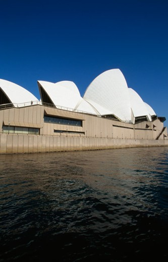 Stock Photo: 1096-1315A Opera house on the waterfront, Sydney Opera House, Sydney, New South Wales, Australia