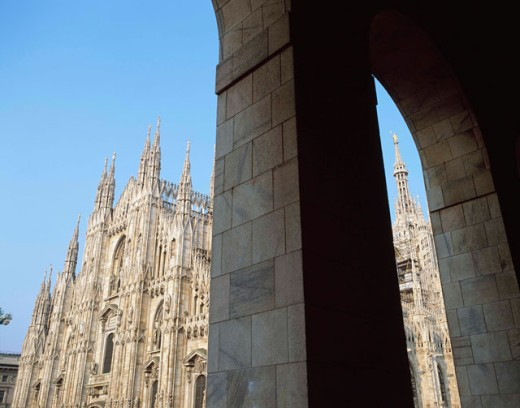 Low angle view of a cathedral, Duomo di Milano, Milan, Italy : Stock Photo