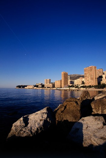 Stock Photo: 1096-1740A Buildings on the waterfront, Monte Carlo, Monaco