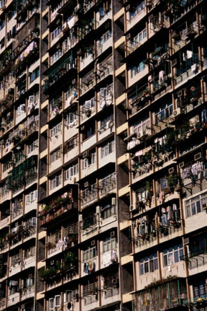 Low angle view of buildings, Hong Kong, China : Stock Photo