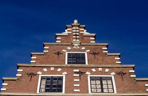 Low angle view of a building, Amsterdam, Netherlands : Stock Photo