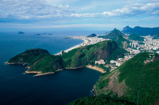 High angle view of buildings in Rio de Janeiro, Brazil : Stock Photo