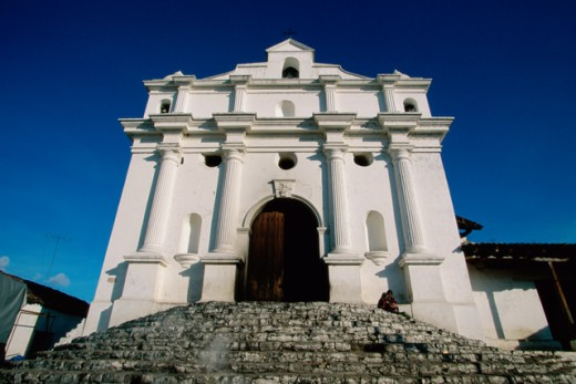 Low angle view of a church, Santo Tomas Church, Chichicastenango, Guatemala : Stock Photo