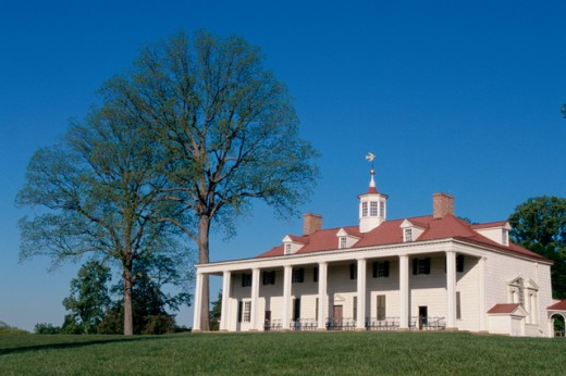 Stock Photo: 1096-2019 Mount Vernon, Home of George Washington, Virginia, USA