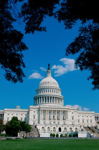 Stock Photo: 1096-2021 Facade of the Capitol Building, Washington, D.C., USA