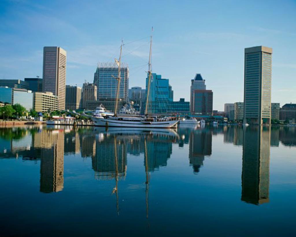 Stock Photo: 1096-2040 Inner Harbor, Baltimore, Maryland, USA