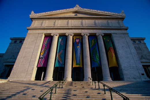Stock Photo: 1096-2061 Facade of the Field Museum, Chicago, Illinois, USA